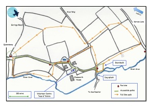 Bark in the Park routes at Chesworth Farm