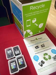 Donation station for mobile phones, spectacles, old ink cartridges and more - to benefit local charity