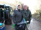 Litter pickers: Veronica and Jim Ashworth