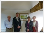 Celebrating the painting's arrival: (L-R) Peter Tobutt, Christian Mitchell, Heather Glenny and Laura Thomas