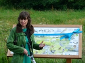 Baroness Parminter drew on her extensive environmental knowledge to highlight the wetland's current and future importance to conservation, education and wellbeing