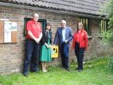Marc Harrold, Kate Parminter, Councillor Jonathan Chowen and Hilary Humphrey of Horsham Community Responders (Photo: Dave Verrall)