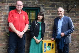 Marc Harrold of Horsham Community Responders, FCF President Kate Parminter, Councillor Jonathan Chowen (Photo: Julian Thompson)