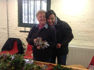 Christmas wreath-making at Chesworth Farm 2017