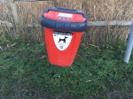 Dog waste bin at Chesworth Farm