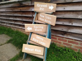 Field signs to help visitors navigate their way around
